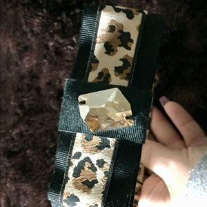 Prom* Tarina Tarantino crystal leopard headband